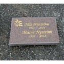 Grave Tile ( 60x40x5 cm )