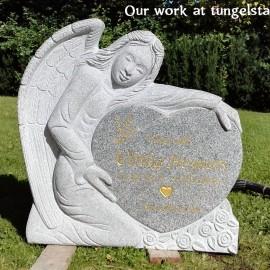 Ängel PG  10 Small (gravsten på tungelsta kyrkogården)